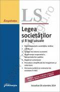 Legea societatilor si 8 legi uzuale. Actualizare la data de 30 octombrie 2014