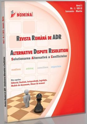 Revista Romana de ADR nr. 1/2012 (Revista de Mediere, Arbitraj, Negociere)