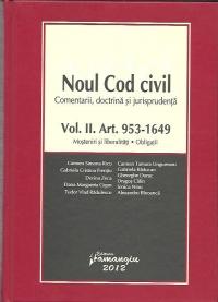 Noul Cod civil | Vol. II. Art. 953- 1.649 | Mosteniri si liberalitati. Obligatii