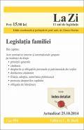Legislatia familiei. Actualizare: 25.10.2014 | Coordonator: Emese Florian