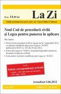Noul Cod de procedura civila si Legea pentru punerea in aplicare | Editie prefatata de Viorel Mihai Ciobanu